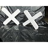 Cavaletti-Kreuze (4 Stk.) 8x8cm, weiß lackiert (Stückpreis 16,47€ inkl. Versandkosten franko BRD))