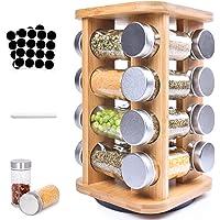 Frasheng Présentoir à Épices,Carrousel à épices avec 16 pots à épices,Organiseur Rotatif,rotatif à 360 °,Économiser de l…