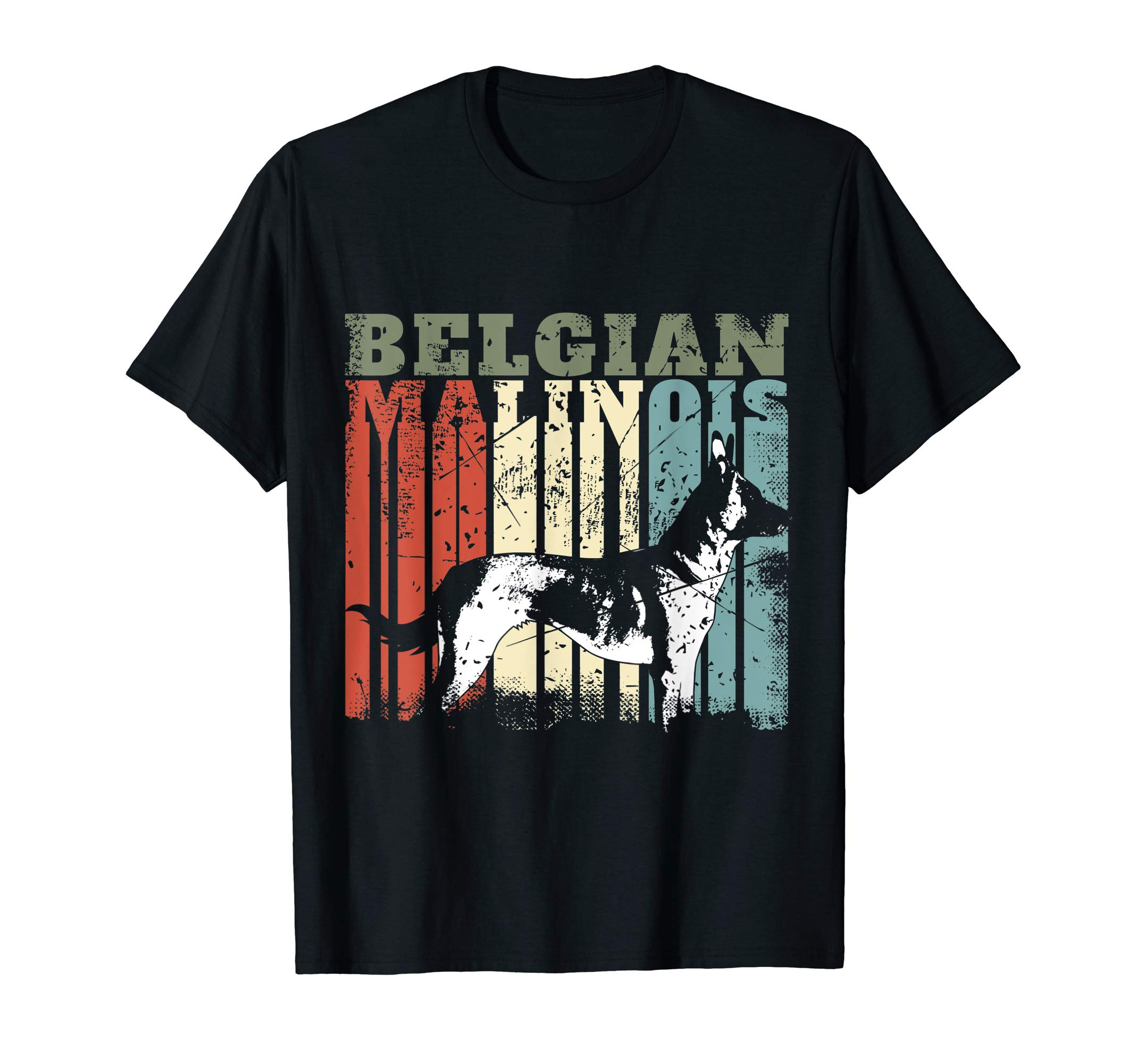 Vintage Belgian Malinois T Shirt, Dog Lovers Tee T-Shirt