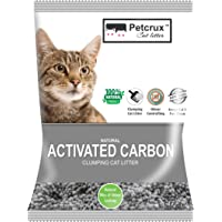 PetCrux™ Exclusive Scoopable Natural Activated Carbon Cat Litter, 5Kg (Pack of 1)