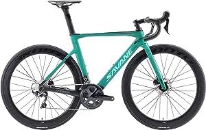 SAVADECK Carbon Rennrad HERD9.0 700C Kohlefaser Rennrad Rennr/äder Radfahren Fahrrad mit Campagnolo Centaur 22 Speed Groupset und Fizik Sattel