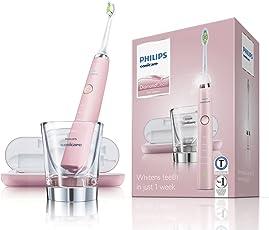 Philips Sonicare DiamondClean Elektrische Zahnbürste mit Schalltechnologie HX9362/67, rosa
