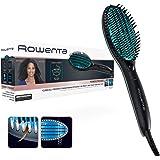 Rowenta Cepillo alisador Power Straight CF5820 - Cepillo especial para cabello muy rizado, con generador de iones y temperatu