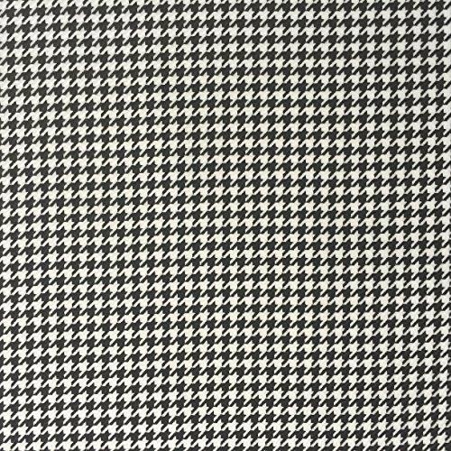 Black and White Dogs Tooth Hounds Tooth Check gonne di tessuto di fabbricazione del vestito cucito, quilting, cucito gonne bandierine larga 149,9cm-venduto al metro