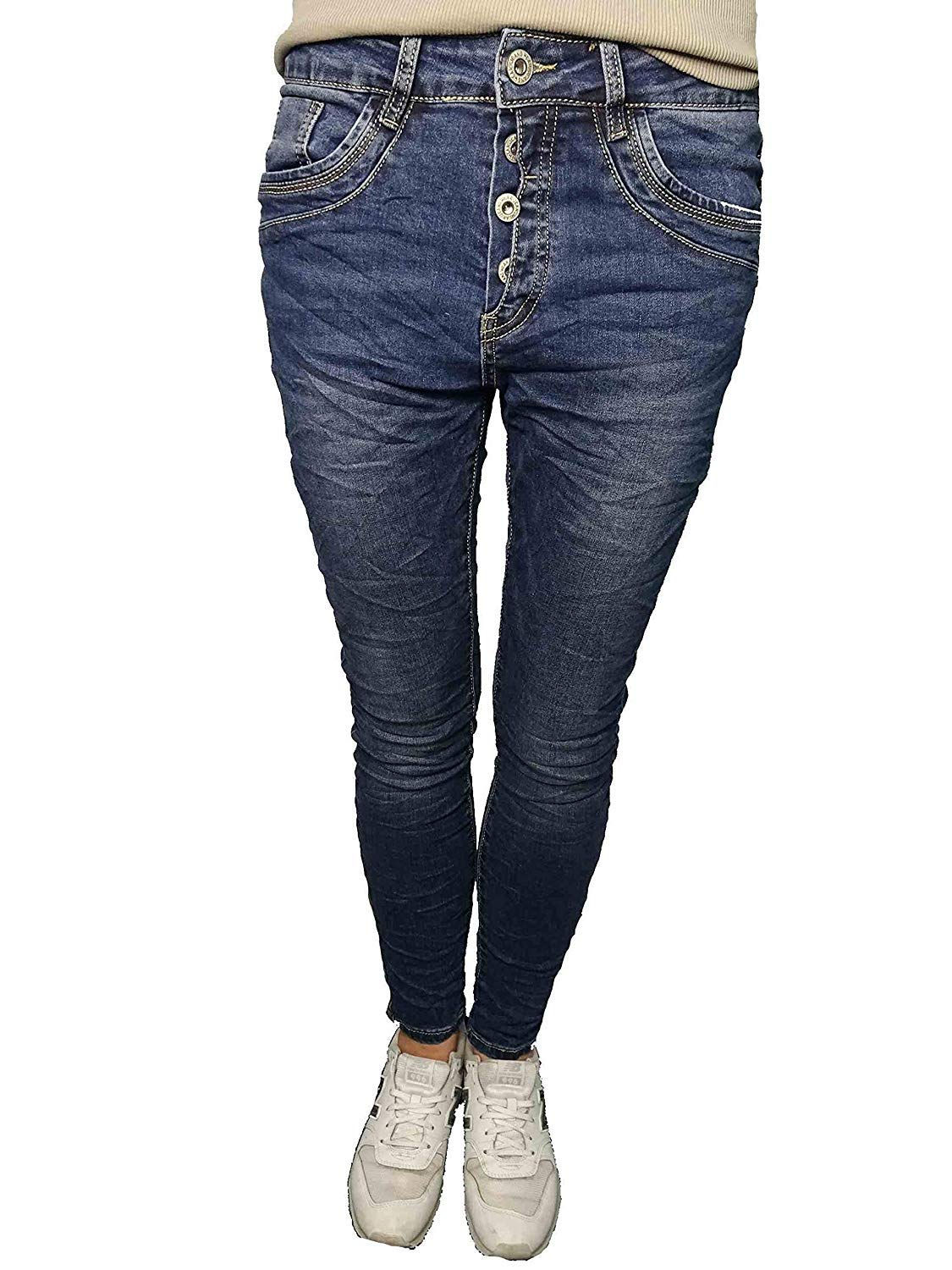 KAROSTAR BAGGY DAMEN Jeans 4 Button Style New Colour