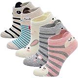 Kinder Socken Bunt Socken aus Baumwolle, Kleinkind Mädchen Socken Karikatur Tier Socken Lustige Witzige Sneaker Socken…