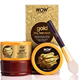 WOW Skin Science Gold Clay Face Mask for Hydrating Skin & Restoring Radiance - No Parabens, Sulphate, Mineral Oil…