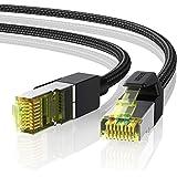 UGREEN Cavo Ethernet Cat 7 RJ45 Alta Velocità 10 Gbps 600 MHz/s, Fibra Ottica Cavo LAN, Cavo di Rete per PS5, PS4, TV Box, PC