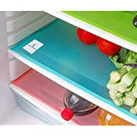 Kuber Industries Place Mats/ Drawer Mats / Fridge Mats/ Multi Purpose Mats/ Refrigerator Mats Set of 6 Pcs (Multi)