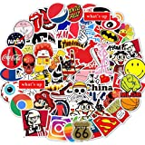 Afufu Pegatinas Casco Moto 100-Pcs Pegatinas Ordenador, Impermeable Pegatinas Moto Stickers Pegatina de Vinilo para Laptop, C