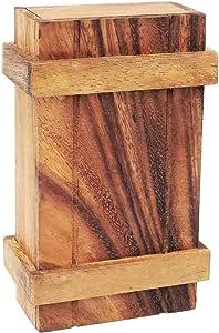 LOGICA GIOCHI Art. Scrigno di Pandora XL - Rompicapo in Legno - Scatola Segreta - Difficoltà 3/6 Difficile - Serie Leonardo da Vinci