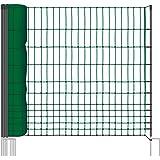 VOSS.farming 50m Hühnernetz, 112cm, 2 Spitzen, grün, Ohne Strom Geflügelzaun Weidezaun Hundezaun Katzenzaun
