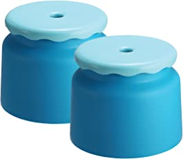 All Time 2 Piece PPHP Plastic Bathroom Stool, Blue