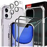 AsBellt Protector Pantalla de iPhone 11 (2*Protector de Pantalla+2*Protector de Cámara +1*Funda) Cristal Vidrio Templado de 3