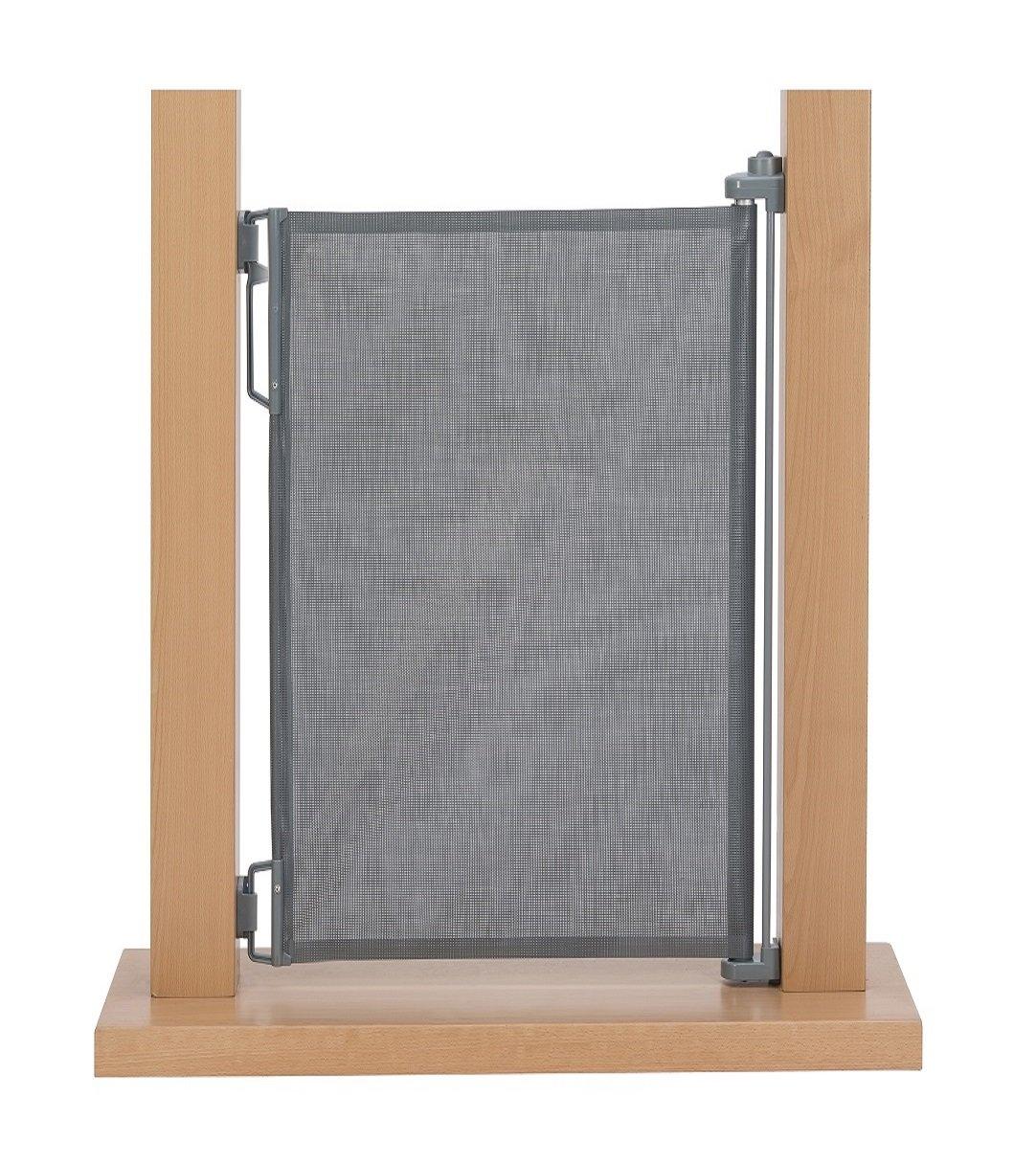 und Treppenschutzgitter Höhe 105 cm einrollbar 50-140 cm Weiß Impag Rollo Tür