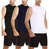Sykooria 3 Piezas Camisetas de Tirantes para Hombre Camiseta Deportiva sin Mangas Secado Rápido Tanktops de Elástico Fitness