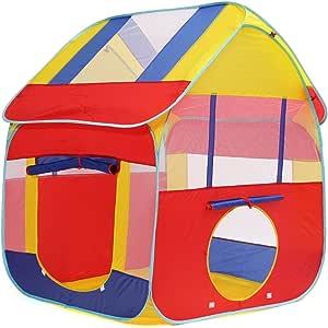 Tente Enfant, Cadeau pour Enfant Baban Tente Extérieure Tente Balles, Pop Up Piscine à Balles Kids Tent, Tente Boule L'intérieur ou à L'extèrieur en Tissu Coloré