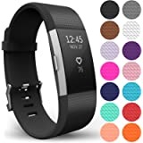 Yousave Accessories Compatible Strap for FitBit Charge 2, Silicone Sport Wristband - Available in 18 Colours
