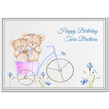 Birthday Card For Twin Brothers