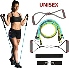 FITSY® Toning Tube Resistance Band Set with Metal Hooks