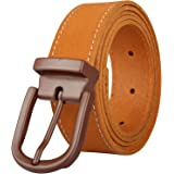 PIERROT - Men's Leather Belt - 30 Colours - Customize with 8 Interchangeable Buckles - Made of Premium Split Leather - One Si