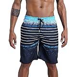 QikeSwim Mens Swimming Shorts Quick Dry Swim Trunks Bathing Shorts Casual Sports Shorts with Pockets