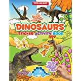 Dinosaurs Sticker Activity Book for Children Age 3-6 years - Colourful Pictures, Stickers and Fun Activities