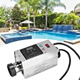 Jadpes Water Temperature Control Circulation System 3KW Stainless Steel Waterproof Intelligent Digital Water Heater Thermostat for Bathtub Swimming Pool SPA 220V