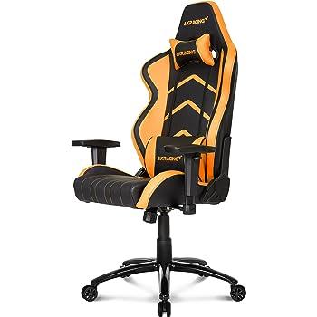 Akracing Player Gamer Fauteuil Faux Cuir Noir Orange 53 X 55 X