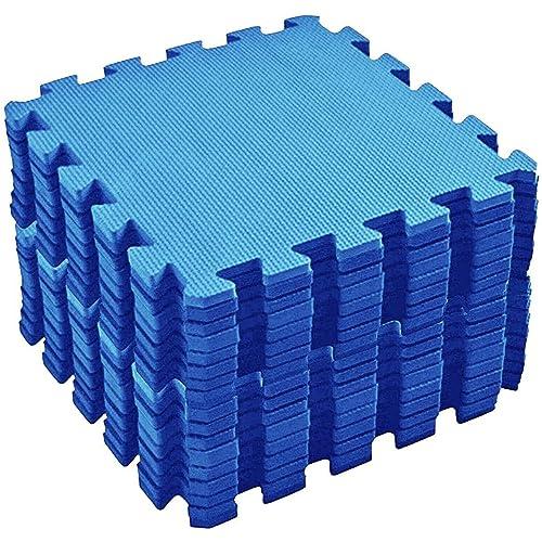 20 mattonelle per pavimento ad incastro antiscivolo con bordo e borsa per il trasporto, tappetini in schiuma per palestra, yoga, allenamenti all'aperto, bambini, 30 cm x 30 cm