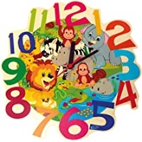 Hess Wooden Wall Quartz Watch Baby Toy, Jungle, Multi-Color