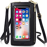 ReeTee Damen Handy Umhängetasche PU Leder RFID Schutz Geldbörse Damen Handytasche zum Umhängen Touchscreen Handy Schultertasc