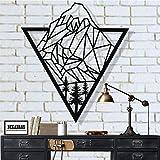 Dekadron Elaphant murale cartables g/éom/étrique /él/éphants Famille 46x15cm noir
