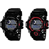 SELLORIA Digital Black Dial Silicone Bracelet Boys Kids Watch Combo Pack of 2-2020 Latest Watches