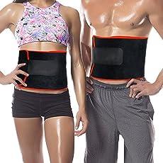 Frackkon Shaper Belt, Slimming Belt, Waist Shaper, Tummy Trimmer, Sweat Slim Belt, Belly Fat Burner, Stomach Fat Burner, Super Stretch, Unisex Body Shaper for Men & Women, Sizes M, L, XL, XXL and 3XL