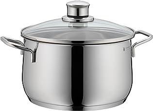 WMF Kochtopf hoch Ø 20 cm ca. 3,7l Diadem Plus Schüttrand Glasdeckel Cromargan Edelstahl poliert induktionsgeeignet spülmaschinengeeignet
