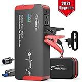 YABER Booster Batterie, 2000A 22000mAh Portable AC Jump Starter, Démarrage de Voiture (Toute Essence, jusqu'à 8.0L Diesel) La