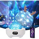 Bébé Veilleuse Projecteur,Petrichor Veilleuse LED Enfant Lampe Musicale et Lumineuse 360°Rotation,8 Chansons,6 Films de Proje