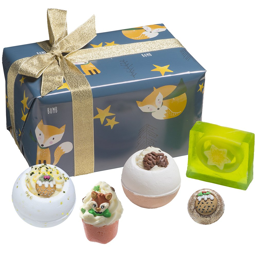 Bomb Cosmetics Silent Night Handmade Wrapped Gift Pack [Contains 5-Pieces], 500g