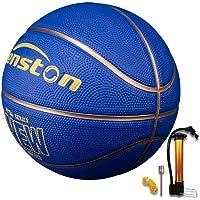 Senston Pallone da Basket di Gomma Unisex Palla da Basket con Pompa per Bambini Kids - Taglia 7