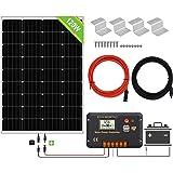 ECO-WORTHY Kit de paneles solares de 120 vatios y 12 vatios: panel solar de 120 vatios y controlador de carga solar de 20 mA,