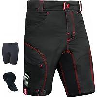 Brisk Bike Mountain Bike Shorts Padded Loose Fit Lightweight MTB Cycling Shorts