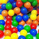 EEVOVEE Plastic Medium Size Premium Balls Color Balls for Kids Pool Balls Set of 50 Pieces Balls for Baby Kids 6 cm Diameter