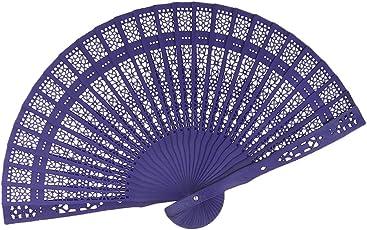 Vintage Holz Handfächer Fächer Geschnitzt Hohle Handventilator Faltbare Fan