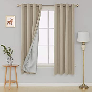 Deconovo Eyelet Curtains Room Darkening Thermal Insulated