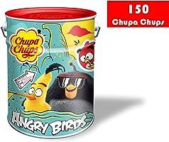 Chupa Chups Caramelo con Palo de Sabores Variados - Lata de 150 unidades de 12 gr/ud