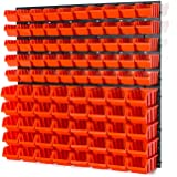Set met 94 kastelementen, wandmontage, 90 stuks, oranje