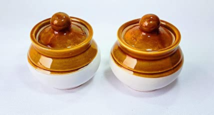 Ceramic/Stoneware in Mustard Contemporary/Martban (Small Size) (2 Pc) Or Classic Pickle Stoneware Jar with Lid