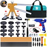 Paintless Dent Puller – Golden Dent Puller Kit, 43pcs Dent Remover Tools with Adjustable Width Dent Repair Tools for Car…