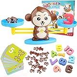 BBLIKE Juguete de Matemáticas, 65 PCS Monkey Balance Tarjetas de Matemáticas Bloque Digital Juego Educativo Juegos de Matemát